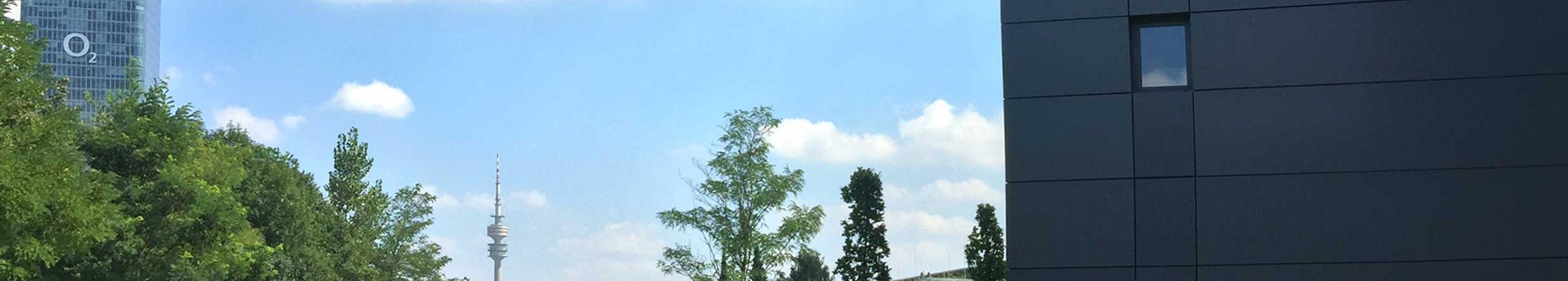 Zu sehen ist die Aussicht von Firmensitz der Tarifhaus Ag in München
