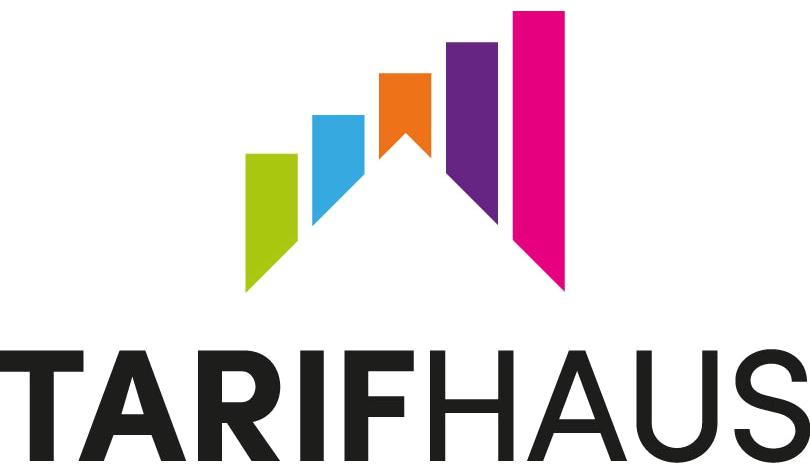 Zu sehen ist das Tarifhaus-Logo.