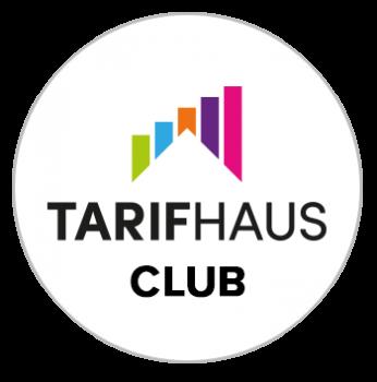 Zu sehen ist das runde Logo des TarifhausClubs.